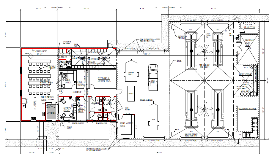 Brussels union gardner fire station facts for Fire station floor plans design